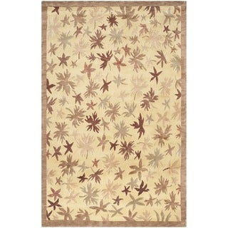 Safavieh Hand-knotted Tibetan Multicolored Floral-pattern Wool Rug (8' x 10')