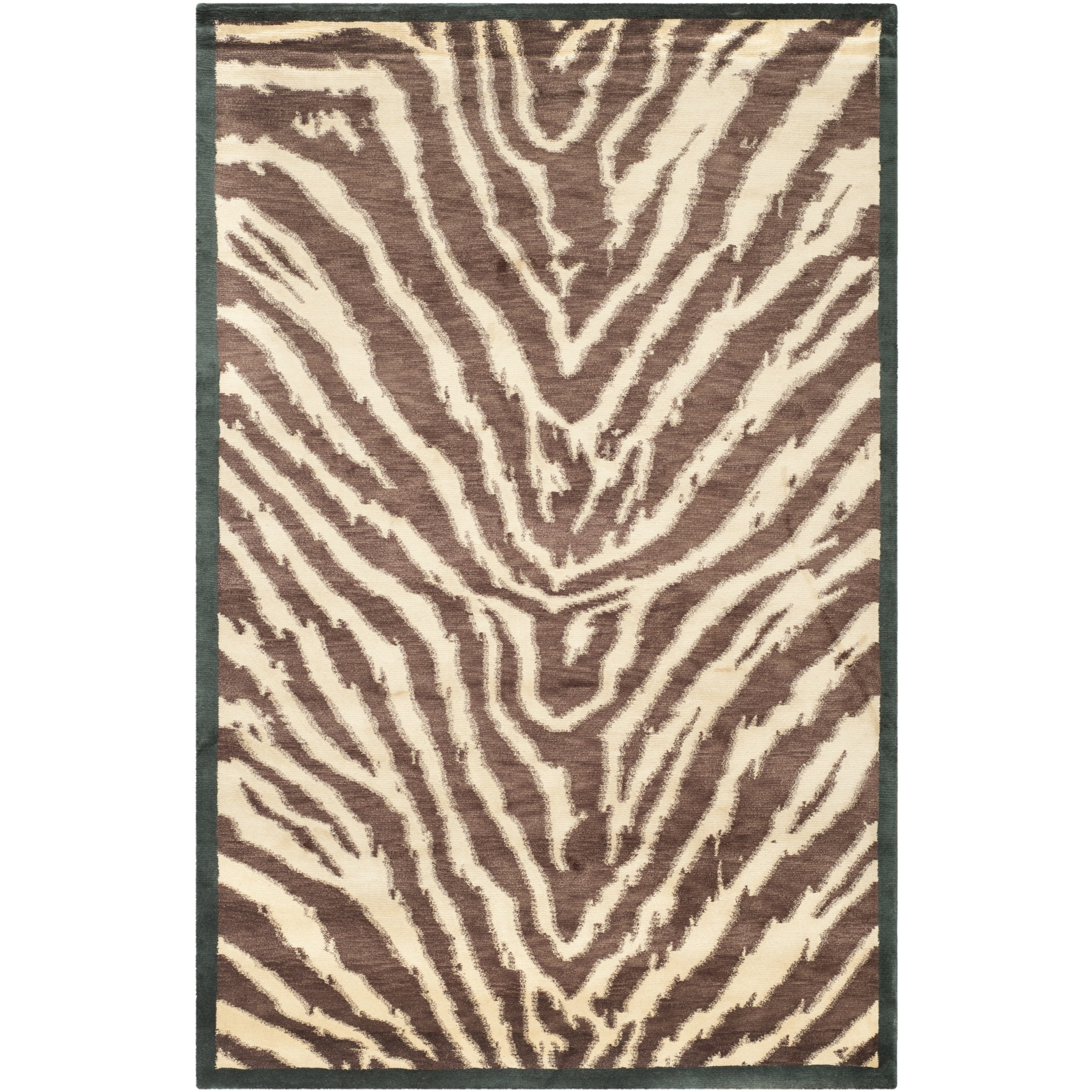 Safavieh Hand-knotted Tibetan Black/ Ivory Wool Rug (4' x 6') at Sears.com