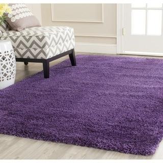 Safavieh Milan Shag Purple Rug (5'1 Square)