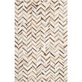 Safavieh Hand-woven Studio Leather Grey Leather Rug (5' x 8')