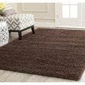 Safavieh Milan Shag Brown Rug (5'1 Square)