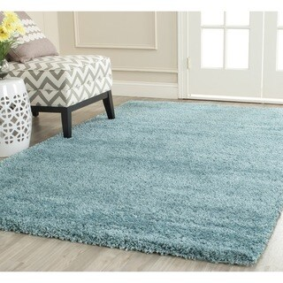 Safavieh Milan Shag Aqua Blue Rug (8'6 x 12')