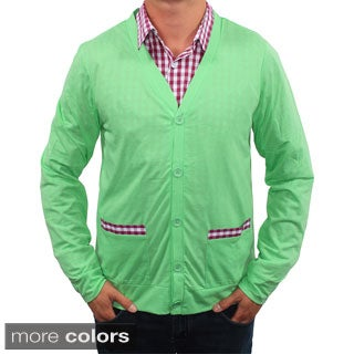 Filthy Etiquette Men's Slim Fit Pocket Trim Cardigan