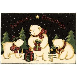 Polar Bears Holiday Accent Rug (2'7 x 3'10)
