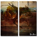 Alexis Bueno 'Abstract' Oversized 2-piece Canvas Wall Art Set