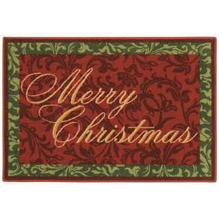 Merry Christmas Holiday Accent Rug (2'7 x 3'10)