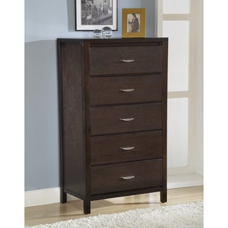 Tapered Leg Five-drawer Chest with Half Moon Pull
