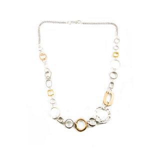 Silver- and Goldtone Metal Chain Necklace (China)