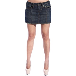 Stitch's Women's Dark Wash Jean Mini Skirt