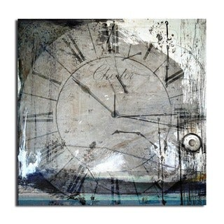 Alexis Bueno 'Tick Tock' Oversized Abstract Canvas Wall Art