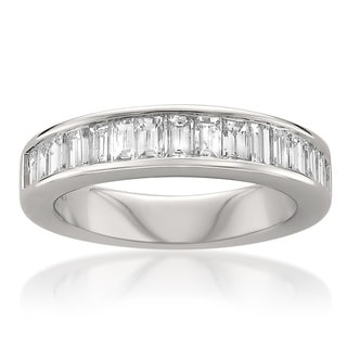 Montebello 14k White Gold 1ct TDW Baguette Diamond Wedding Band (G-H, VS1-VS2)