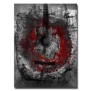 Alexis Bueno 'Acoustic Guitar' Oversized Abstract Canvas Wall Art