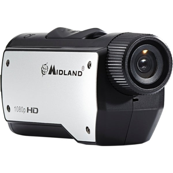 Midland XTC280 Digital Camcorder - CMOS - Full HD - Black, Silver
