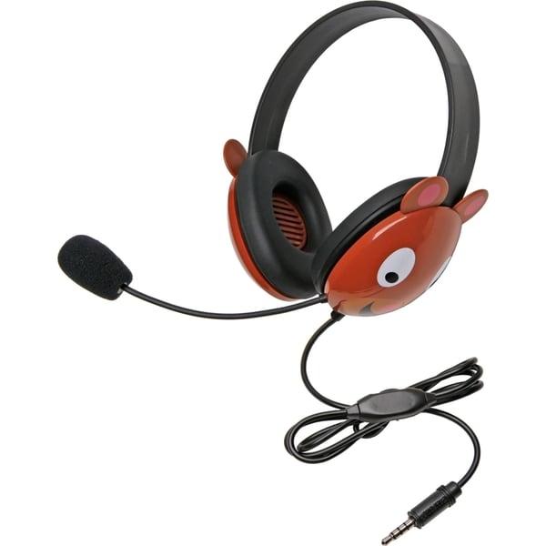 Califone Stereo Headset, Bear w/ Mic 3.5mm Plug Via Ergoguys