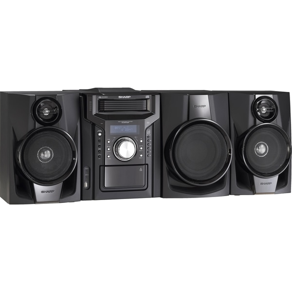 Sharp CD-DHS1050P Mini Hi-Fi System - 350 W RMS - iPod Supported - Bl