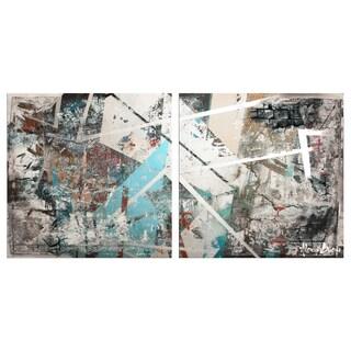 Alexis Bueno 'Abstract' Jumbo Canvas Wall Art (2-piece Set)