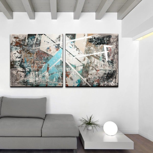 Artwork Alexis Bueno Abstract Jumbo Canvas Wall Art 2 Piece Se