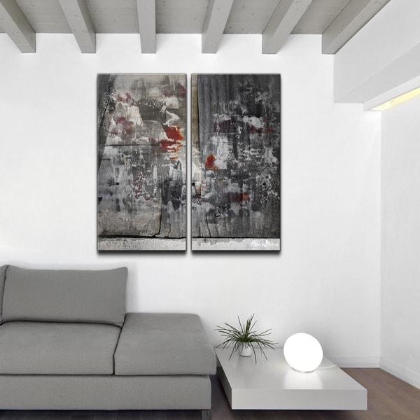 Ready2HangArt 39 Abstract 39 Jumbo Canvas Wall Art Set Of 2 15703663