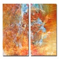 Alexis Bueno 'Abstract' Large Canvas Wall Art (2-piece Set)