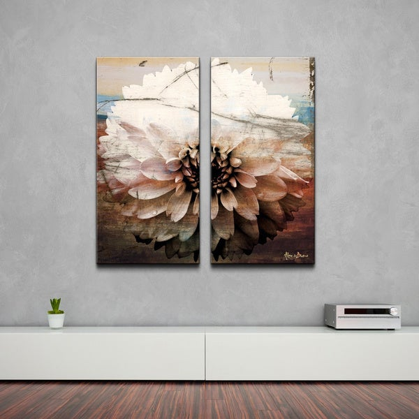 Ready2HangArt 39 Daisy 39 Oversized Canvas Wall Art Set Of 2 15703665