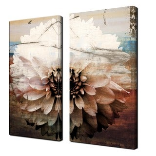 Alexis Bueno 'Daisy' Oversized Canvas Wall Art (Set of 2)