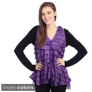 Lily Women's Ruffled Tie-front Vest