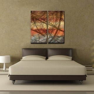 Alexis Bueno 'Abstract' Over-sized Canvas Wall Art (Set of 2)