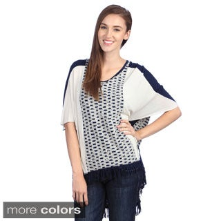 Lily Women's 3/4-sleeve Spliced Top