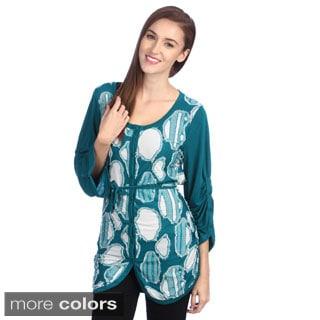 Lily Women's Velvet Printed Round-Neck Vest