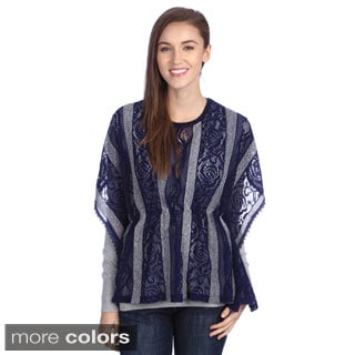 Lily Women's Lace Striped Relaxed Top