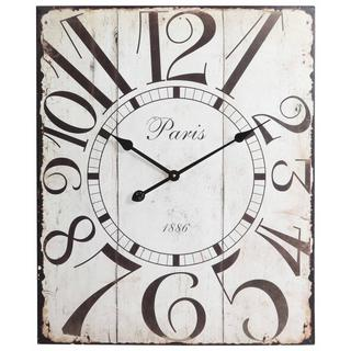 'Starlin' Whimsical Numerals Distressed Clock