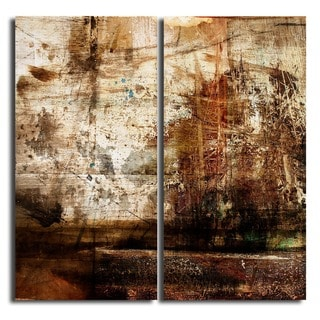 Alexis Bueno 'Abstract' Oversized Canvas Wall Art (Set of 2)