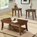 Contemporary Natural Brown 3-piece Coffee Table Set