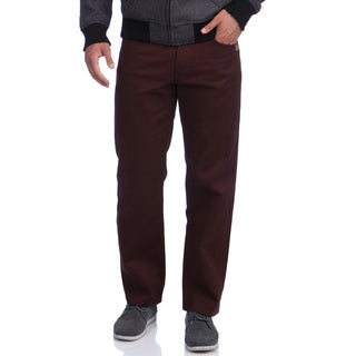 Akademiks Men's 'Culture Color' Burgundy Twill Pants