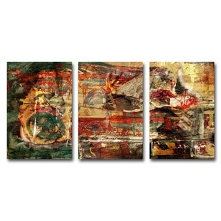 Alexis Bueno 'Abstract' Oversized Canvas Wall Art (Set of 3)