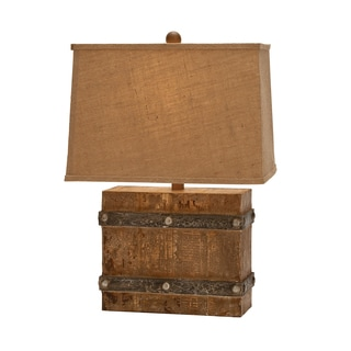 Casa Cortes 23-inch Handcrafted Weathered Wood Table Lamp