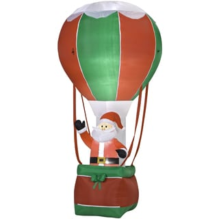Outdoor Inflatable Santa in Hot Air Ballon