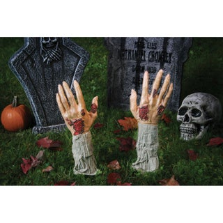 Halloween Ground Breaking Zombie Hands Decor