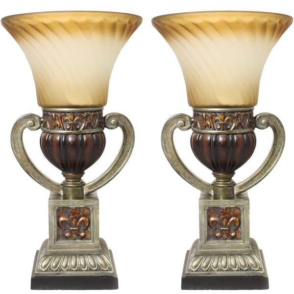 Casa Cortes Parisian Torchiere 22 Inch Uplight Table Lamp
