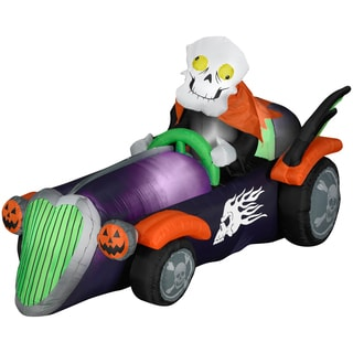 Halloween Airblown Inflatable Skelly Racer