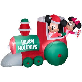 Airblown Train with Mickey and Minnie Mouse Scene