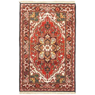 Hand-knotted Royal Heriz Red Wool Rug (3'x5')