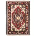 Hand-knotted Royal Heriz Red Wool Rug (2'x3')