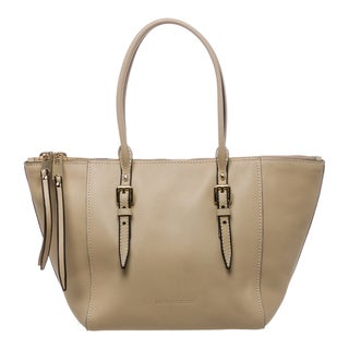 Burberry Salisbury Small Beige Smooth Leather Tote