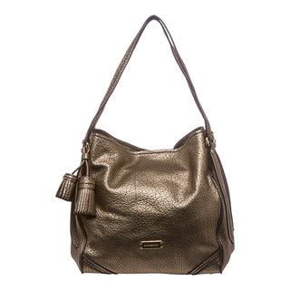 Burberry 'Canterbury' Small Metallic Gold Leather Tote