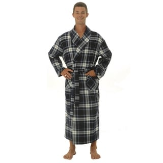 Del Rossa Men's Soft Classic Flannel Bath Robe