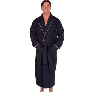 Del Rossa Men's Soft Woven Cotton Bath Robe