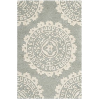 Safavieh Handmade Bella Grey/ Ivory Wool Rug (2' x 3')