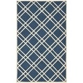 Durablle Safavieh Handmade Moroccan Cambridge Navy/ Ivory Wool Rug (8' x 10')