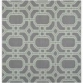 Safavieh Hand-woven Moroccan Dhurrie Grey/ Light Blue Wool Rug (6' Square)